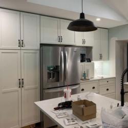 white kitchen after storm damage restoration