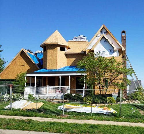 Fire damage restoration project by Midwest Comfort Homes
