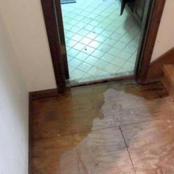 water damage on floor