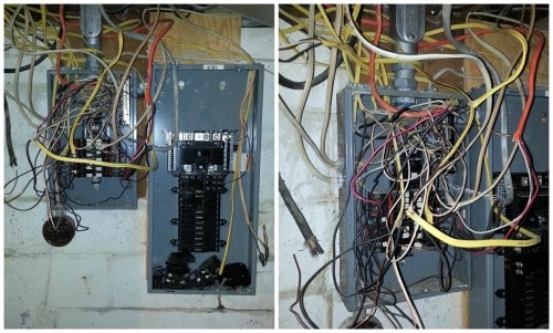 Dangerous electrical wiring systems - examples and fixes