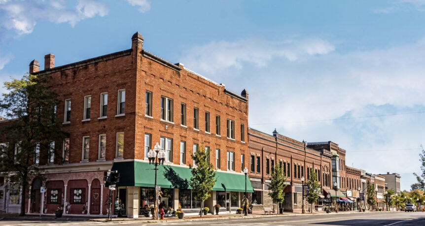 historic main street in downtown
